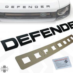 Mat Zwarte Defender Motorkap letters